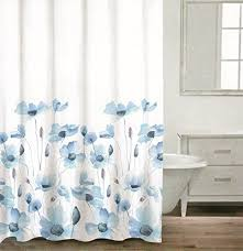 White And Blue Curtains White And Blue Shower Curtain Shower Ideas
