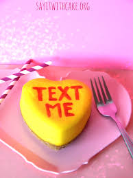 conversation heart conversation heart say it with cake