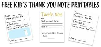 thank you card for kid s thank you card printable the happier homemaker