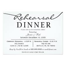 rehearsal dinner invitations black and white wedding rsvp card w meal choice zazzle