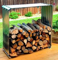 9 super easy diy outdoor firewood racks the garden glove