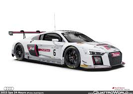 audi r8 lms on pole at spa quattroworld