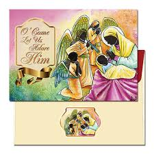 o come let us adore him christmas card on sale hollins gifts