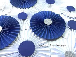 white paper fans navy and white paper fans backdrop set of 20 https www etsy