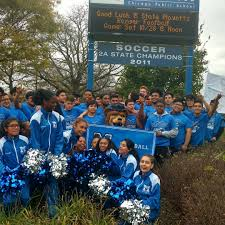 mather high school on luck to the mather football