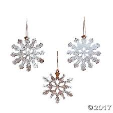 iridescent snowflake ornaments