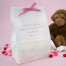 Personalized Cotton Candy Bags Personalized 4 X 2 X 8 Baby Shower Goodie Bags