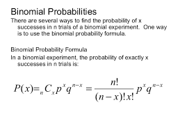 Binomial Probabilities Table 4 2 Binomial Distributions