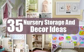 Nursery Diy Decor 35 Nursery Storage And Decor Ideas Diy Home Creative