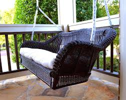 wicker porch swing replacement cushions canada patio home depot