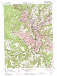 Road Map Of Pennsylvania by Johnstown Topographic Map Pa Usgs Topo Quad 40078c8