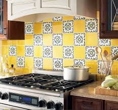 backsplash for yellow kitchen colorful kitchen backsplash pictures 32 at in seven colors