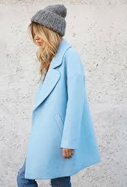 Light Blue Best 25 Blue Coats Ideas On Pinterest Pea Coat Pea Coats Women