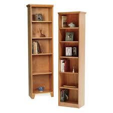 narrow bookcases solid wood custom bookcases cabinets cherry walnut oak tall