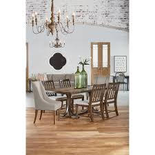 6 pc traditional dining with revival chairs by magnolia home by