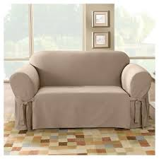 sure fit chair slipcover cotton duck sofa slipcover sure fit target