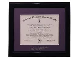 tech diploma frame deluxe certificate frame national technical honor society