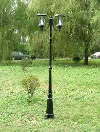 solar pole yard light gama sonic 2 coach lanterns 87 h