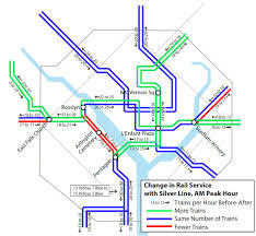 Washington Metro Map by Planitmetro What Will Happen To The Rail Schedules With The