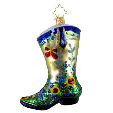 75th anniversary md radko boot ornament gifts