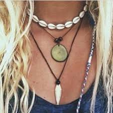 shell necklace images Utrend summer retro cowrie shell necklace for women vintage rope jpg