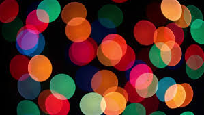 black colored christmas lights stock video of colorful rounds on black background slowly blinking