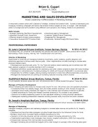 Resume For Marketing And Sales 25 Marketing Manager Resume Samples Vinodomia