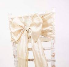 bows for wedding chairs wedding chair sashes ebay