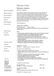 sap crm resume samples business analyst example sample resume for