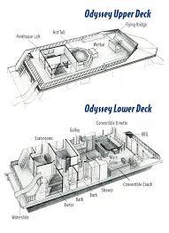 odyssey floor plan houseboat