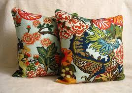 Pillows For Sofas Decorating by Accessories Remarkable Schumacher Outdoor Fabric Design Ideas For