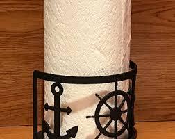 themed paper towel holder nautical towel rack etsy