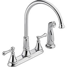 delta vessona kitchen faucet delta 21902lf ss lewiston two handle kitchen faucet with spray