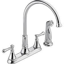 two handle kitchen faucets delta faucet 2497lf cassidy two handle kitchen faucet with spray