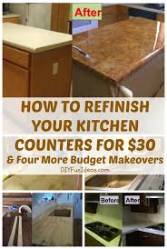 Inexpensive Kitchen Countertops by How To Refinish Your Kitchen Counter Tops For Only 30 Counter