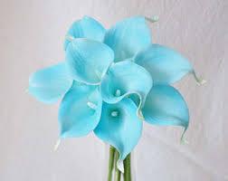 blue lilies blue calla etsy