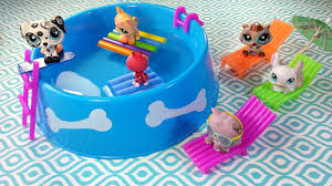 Diy Dollhouse Furniture Diy Doll Working Swimming Pool Chairs U0026 Floaties For Lps Or Mlp