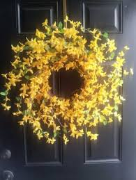 whimsical spring forsythia wreath jenna burger pictures of wreaths on doors google search debra s board