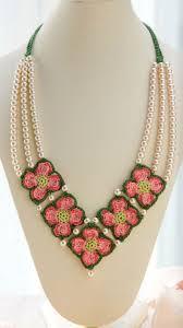 crochet necklace pattern images Crochet dogwood necklace crochet kingdom jpg