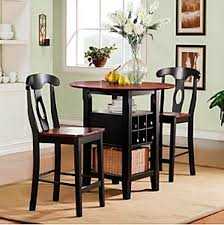 plain design dining table with wine rack trendy 3 piece bistro