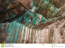 abstract texture of the oxidated copper on the walls of the
