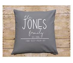 personalized christmas gifts amazon com personalized family pillow cover custom christmas