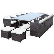 chaise en r sine tress e salon de jardin r sine tress e 8 12 places vasto salons resine