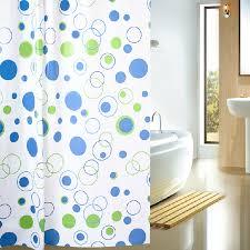 geometric circles patterns cheap shower curtains buy blue