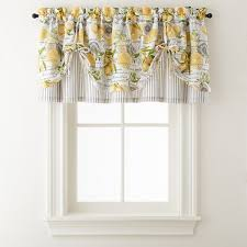 Tie Up Valance Curtains Home Expressions Lemon Zest Rod Pocket Tie Up Valance Jcpenney