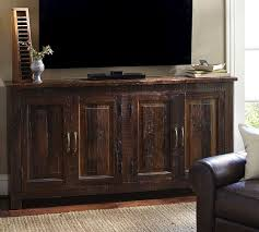 living room tv stand bowry media console natural wood for the