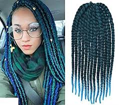ombre crochet braids black to aqua two colors ombre crochet braid hair