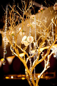 Led Branch Centerpieces by Pink And Peach Bejeweled Wedding In California Centerpieces
