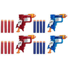 nerf terrascout nerf n strike elite sonic fire and ice jolt team pack of four