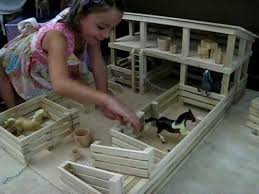 Woodworking Plans For Child S Table And Chairs by Toy Stockyard Stable Corral With Stalls Corrals Gates And Ramp